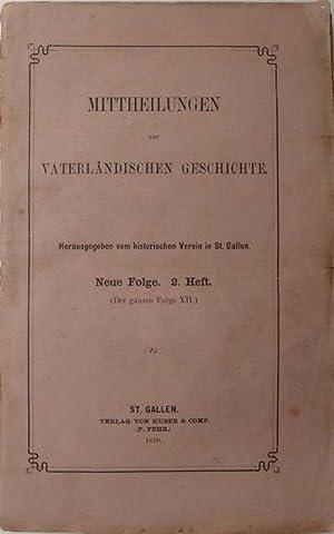St. Gallische Geschichtsquellen. Heu herausgegeben durch G. Meyer v. Knonau : I. Vita et miracula s...