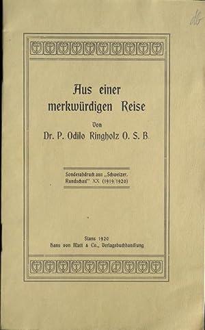 Aus einer merkwürdigen Reise. [Nach den hinterlassenen Papieren des Dr. P. Karl Brandes O.S.B....