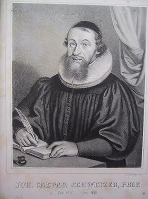 Front.: Joh. (Johann / Hans) Caspar Schweizer, Prof., geb. 1620, gest. 1688].: Schweizer, Alexander...