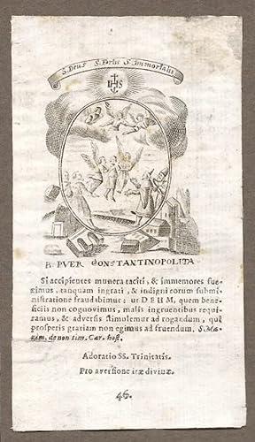 S. [Sanctus] Deus, S. Fortis, S. Immortalis / B. [Beatus] Puer Constantinopolita[nus].