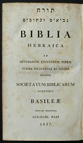 Thorah Nebhiim Kethubhim / Torah Nevi im u-khetuvim od. mebi?im oeketübim:] Biblia ...