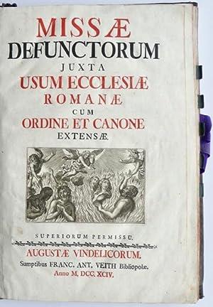 Missae Defunctorum juxta usum Ecclesiae Romanae cum