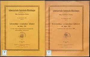 Arbeitslöhne verunfallter Arbeiter im Jahre 1918 in den dem Unfallversicherungsgesetz ...