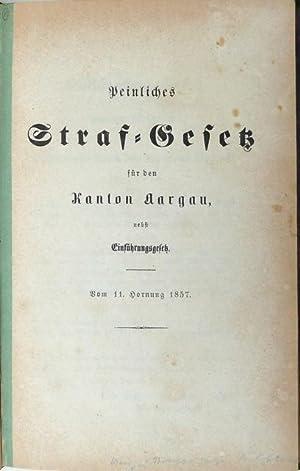 7 div. Gesetzespublikationen zum kantonalen Strafrecht.