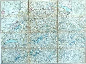 H. Keller's erste Reisecharte [Kellers Reisekarte] der Schweiz / Première Carte ...