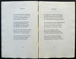 Sonette. Ausgewählt und übertragen von Eva Herlik.: Petrarca, Francesco.