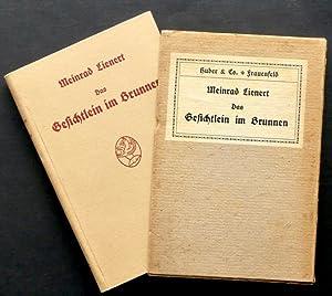 Das Gesichtlein im Brunnen. Erzählung. 5.?9. Tausend.: Lienert, Meinrad.