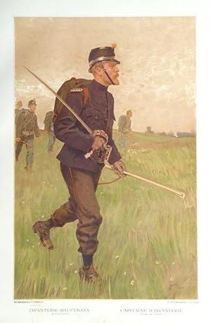 L?Armée Suisse / Die Schweizerische Armee, 1894, [Tafel 5] : Infanterie-Hauptmann (...