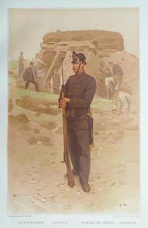 L?Armée Suisse / Die Schweizerische Armee, 1894, [Tafel 22] : Geniesoldat: Sappeur &#...