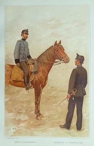 L?Armée Suisse / Die Schweizerische Armee, 1894, [Tafel 24] : Arzt & Apotheker &#...