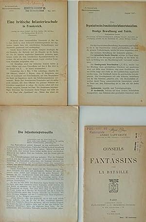 Konvolut von 4 div. (davon 3 Schweizer) Schriften zu Infanterie und Infanteristen.