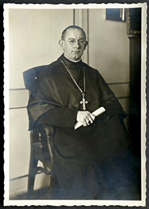 Osterwünsche (Porträt mit hs. Widmung).: Hunkeler, Abt Leodegar O.S.B.