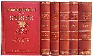 Dictionnaire géographique de la Suisse, sous les auspices de la Société neuch&...