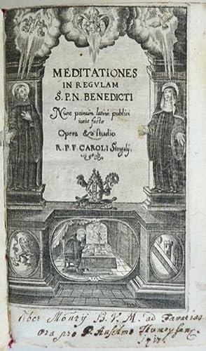 Meditationes In Regulam S. P. N. Benedicti.: St. Benedictus, Benedikt