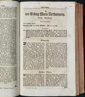 Auserlesene Feyertags-Predigten, mit eingemengten Lobreden, über die Geheimnisse unsers Herrn, und ...