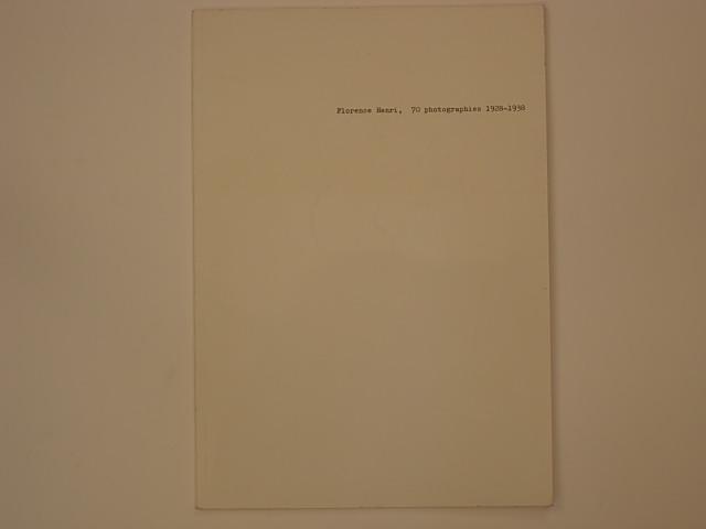 Florence Henri, 70 photographies 1928-1938 - Teicher Hendel