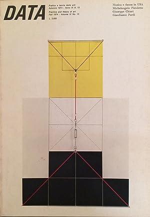 DATA Fall 1974 Volume IV [4°] No.13.: Trini Tomaso