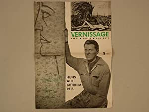 VERNISSAGE. Kunst . Kritik . Kontakte. No. 3 - april 1960 (cover BERNARD BUFFET) HANS HARTUNG. YV...