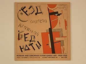 Russian and European Avant-Garde Art: 1905-1930: N/A