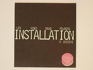 Life Video Sound Polaroid Installation. R Kriesche: Kriesche Richard