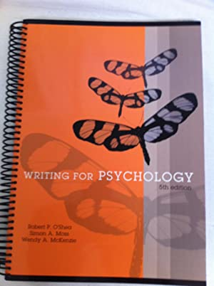 Writing for Psychology with Infotrac 5th Edition: O'Shea, Robert