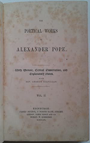 Pope's Poetical Works Volume II; Vol. II
