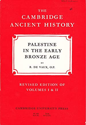 The Cambridge Ancient History: Palestine in the early Bronze Age.