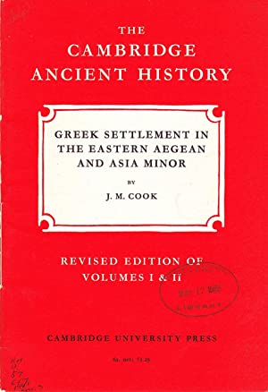 The Cambridge Ancient History: Greek Settlement in Eastern Aegean and Asia Minor.