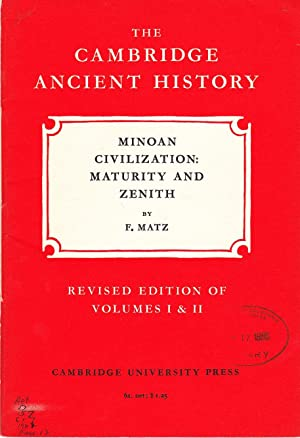 The Cambridge Ancient History: Minoan Civilization: Maturity and Zenith.