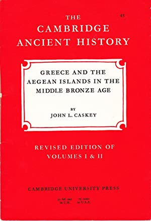 The Cambridge Ancient History: Greece, Crete and Aegean Islands in the Middle Bronze Age.