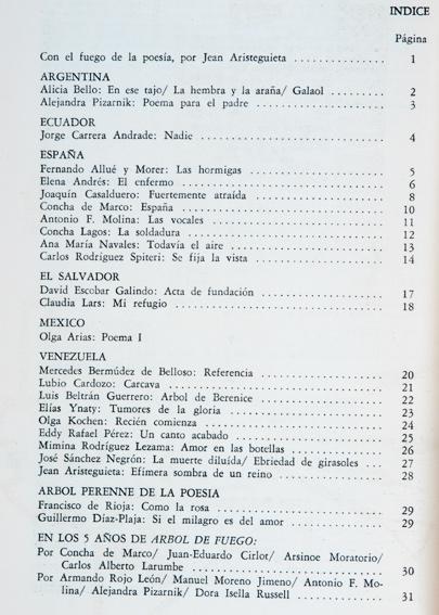 Revista árbol De Fuego Poesía No46 Ene
