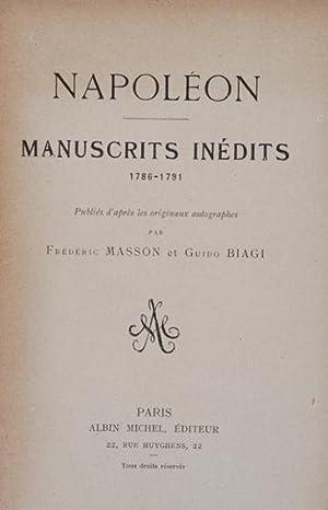Napoléon : Manuscrits inédits (1786-1791) publiés d'après: Masson, Frédéric &