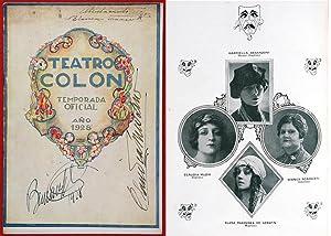 Teatro Colón, Buenos Aires. 1928 season program announcing, amongst other participants, ...