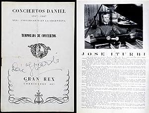 José Iturbi - Concert Program of Teatro: José Iturbi