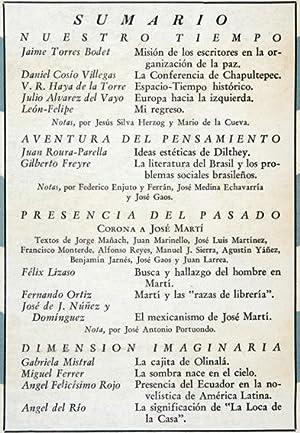 Revista Cuadernos Americanos. - Año IV, 1945.: Jaime Torres Bodet