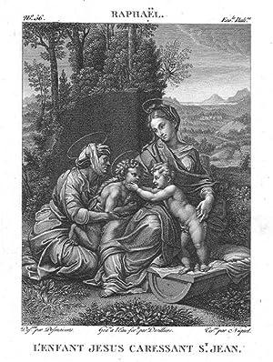 La Vierge à l'Enfant, sainte Élisabeth et: Atelier of RAPHAEL