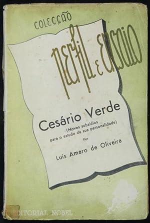 Cesário Verde. Novos subsídios para o estudo da sua personalidade: Oliveira, Luis Amaro de