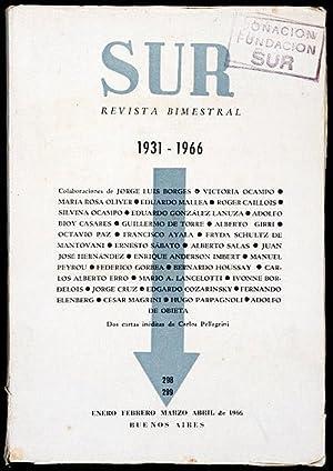 Revista SUR No. 298-299 Ene-Abr 1966. 1931-1966.: Jorge Luis Borges