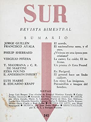 Revista SUR No. 242 Sep-Oct 1956. Jorge: Jorge Guillén &