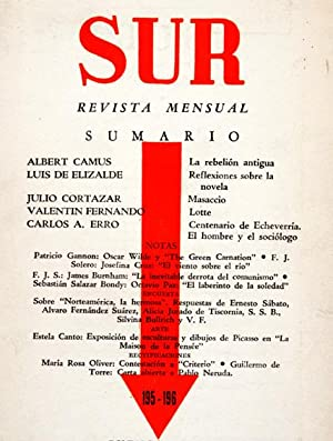 Revista SUR No. 195-196 Ene-Feb 1951. - Julio Cortázar: Masaccio; Albert Camus: La rebeli&...