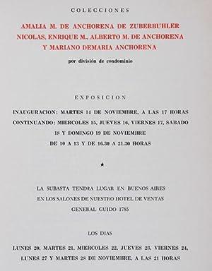 Catálogo de la subasta de las Colecciones Amalia M. de Anchorena de Zuberbuhler, Nicol&...