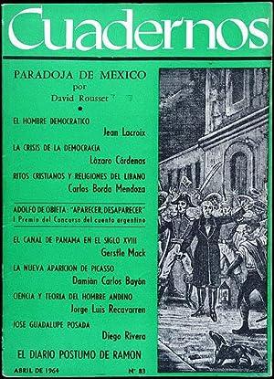 Revista CUADERNOS. No. 83 Abril 1964. Diego: Diego Rivera &