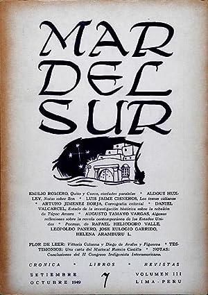 MAR DEL SUR. Revista Peruana de Cultura.: Emilio Romero &
