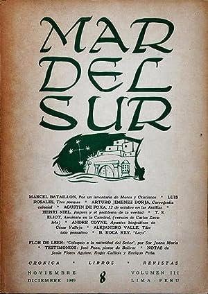 MAR DEL SUR. Revista Peruana de Cultura.: Marcel Bataillon &