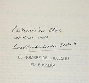 El Nombre del Helecho en Euskera: López Mendizábal, Isaac