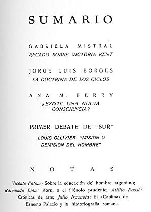 Revista SUR No. 20 May 1936 : Jorge Luis Borges