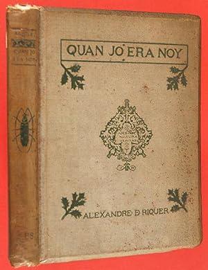 Quan jo era noy: Riquer, Alexandre de, Illustrated by Alexandre de Riquer (1856-1920)