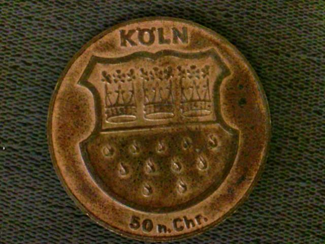 Münze Medaille Kupfermedaille Köln 50 N Chr Rückseite Kölner