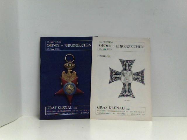 76. Auktion: Orden und Ehrenzeichen. Text- und: PHALERISTIK - Graf
