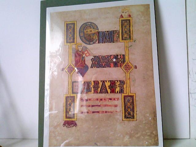 3 Original-Faksimileblätter vom Book of Kells +: Faksimile Verlag Luzern